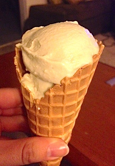 dairy free honey lavendar ice cream